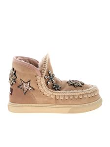 Mou - Eskimo 18 Crystal Stars sneakers in pink