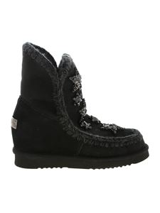 Mou - Eskimo 18 Crystal Stars boots in black