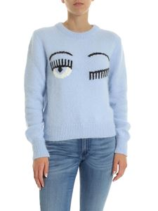 Chiara Ferragni - Flirting pullover in sky blue color