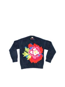 Kenzo - Japanese Flower pullover in blue