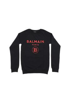 Balmain - Balmain Paris red logo sweatshirt in black