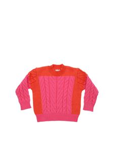 Stella McCartney Kids - Crew-neck pullover in fuchsia and red