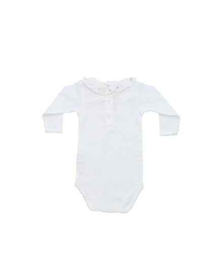 Bonpoint - Romper suit in white embroidered collar