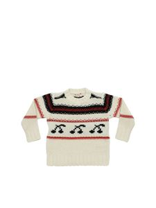 Bonpoint - Crew-neck pullover with inlaid cherries