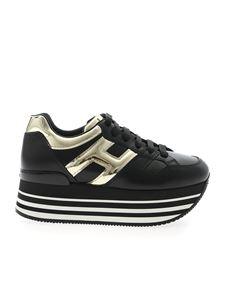 Hogan - H283 Maxi 222 sneakers in black and gold