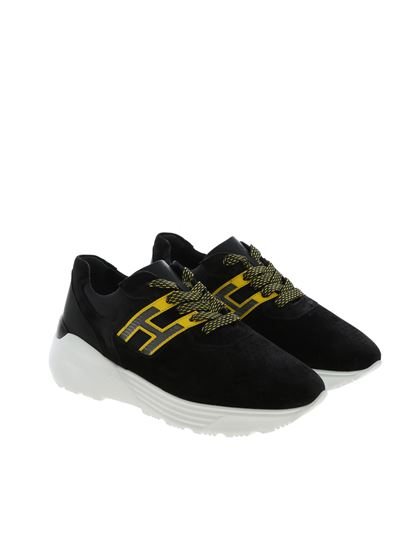 Sneakers H443 nere e gialle