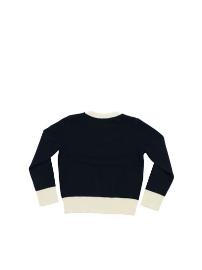 Bonpoint - Cherry pullover in blue and white