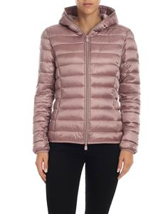 Save the duck - Iris 9 hooded down jacket in pink