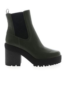 Hogan - H475 ankle boots in Army green