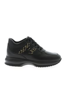 Hogan - Interactive sneakers in black leather