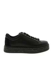 Twin-Set - Black sneakers with rhinestones