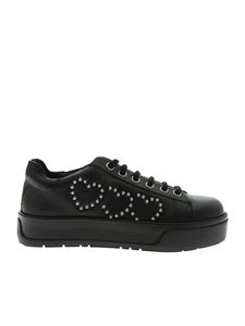 Twin-Set - Black sneakers with hearts
