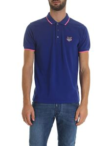 Kenzo - Tiger Crest polo in electric blue