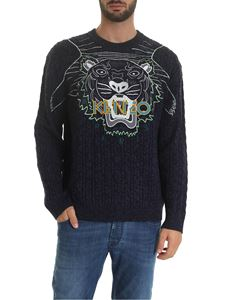Kenzo - Claw Tiger Jumper in blue and black