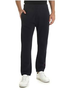 Moncler - Cotton sweatpants in blue