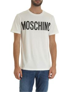 Moschino - MOSCHINO printed T-shirt in white
