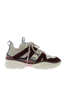 Isabel Marant - Kindsay sneakers in light grey and burgundy