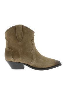 Isabel Marant - Taupe colored Dewina pointed Texans