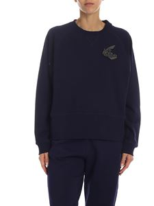 Vivienne Westwood Anglomania - Blue sweatshirt with Orb logo patch