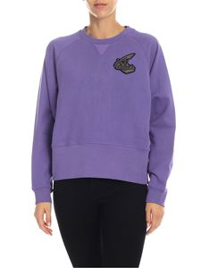 Vivienne Westwood Anglomania - Purple sweatshirt with Orb logo patch