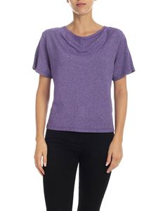 Vivienne Westwood Anglomania - T-shirt dark lilac lamè
