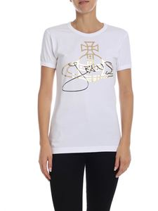 Vivienne Westwood Anglomania - White T-shirt with Orb logo print