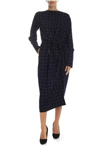 Vivienne Westwood Anglomania - Asymmetric blue dress with white check pattern