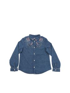 Bonpoint - Denim shirt in light blue