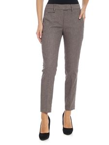 Dondup - Perfect trousers in beige and burgundy