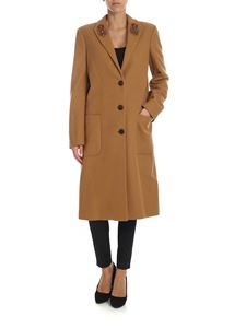 Dondup - Coat in camel color with jewel details