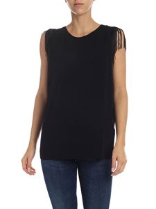 Dondup - Black top with fringe