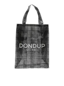 Dondup - Transparent shopper with black houndstooth