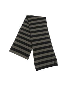 Dondup - Green and black striped scarf