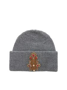 Dondup - Grey beanie with jeweled patch