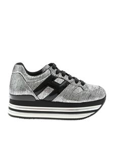 Hogan - H473 sneakers in silver and black