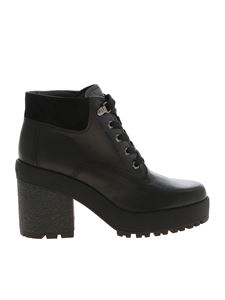 Hogan - H475 black ankle boots with suede detail