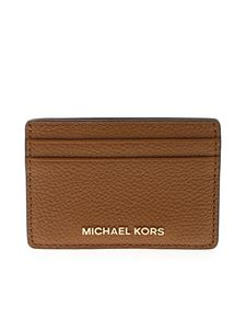 Michael Kors - Leather-colored branded card holder