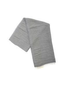 Fabiana Filippi - Gray scarf with striped pattern and micro sequins