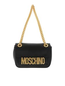 Moschino - Black bag with golden metal logo