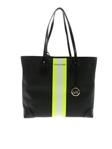 Michael Kors - Lg Tote Eva bag in black and neon yellow