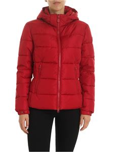 Save the duck - Logo patch down jacket in red