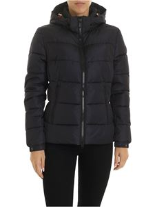 Save the duck - Patch logo down jacket in black