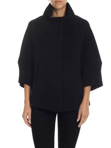 Herno - Resort coat in black with knit details