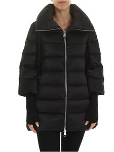 Herno - Resort black jacket with knitted sleeves