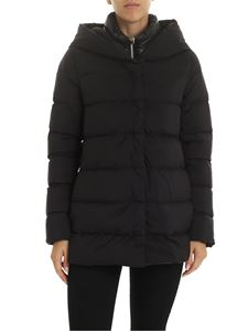 Herno - Down jacket in black with coated details