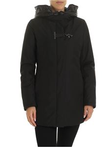 Fay - Down jacket in black with Fay hook