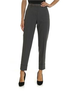 Peserico - Trousers in dark gray with jewel detail