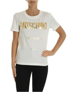 Moschino - Golden Moschino Couture t-shirt in white