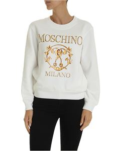 Moschino - Roman Double Question Mark sweatshirt in white