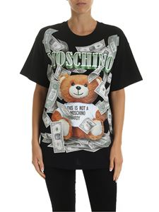 Moschino - Dollar Teddy Bear oversized T-shirt in black